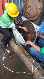 SCALLING CHILLER di coca cola amatil Indonesia PLANT CIBITUNG